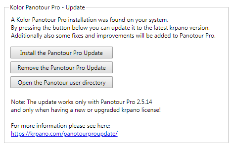 Panotour Pro Update