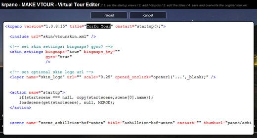 krpano com - Plugins - Virtual Tour Editor Plugin