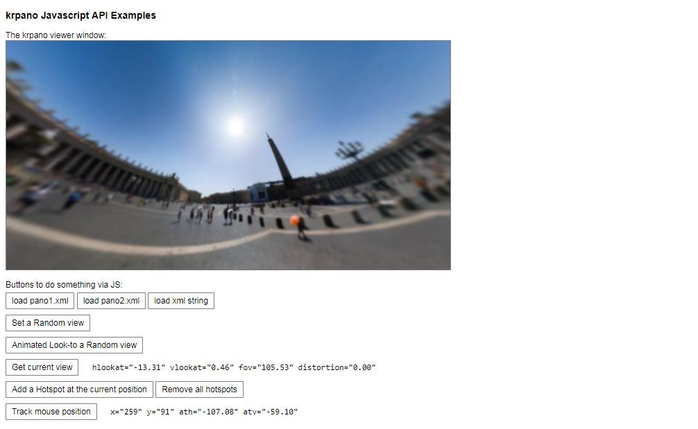 krpano com - Examples - API
